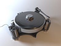 vinyl turntable player 3D