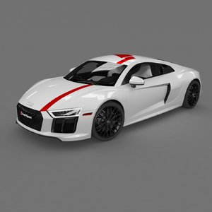3D r8 coupe 2018