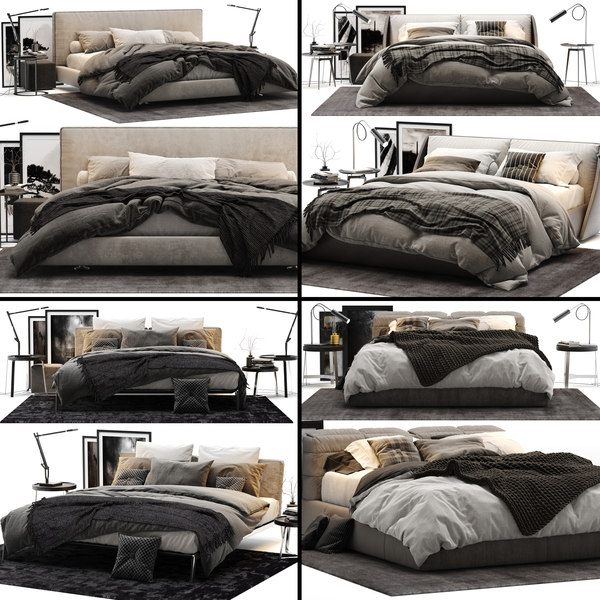 bed colection 02 - 3D model
