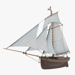 3D yacht sail