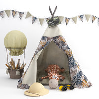 Tent for children with decor