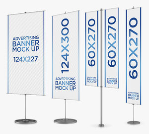 banner stand 4 1 3D