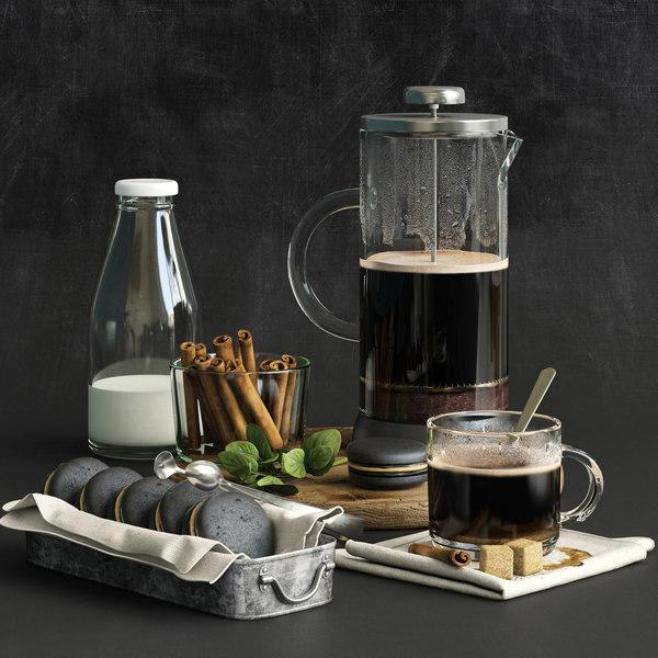 3D model kitchen set 04