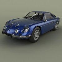3D 1968 renault alpine a110