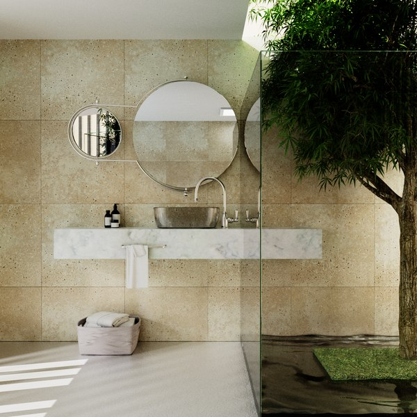 realistic bathroom interior 3D model