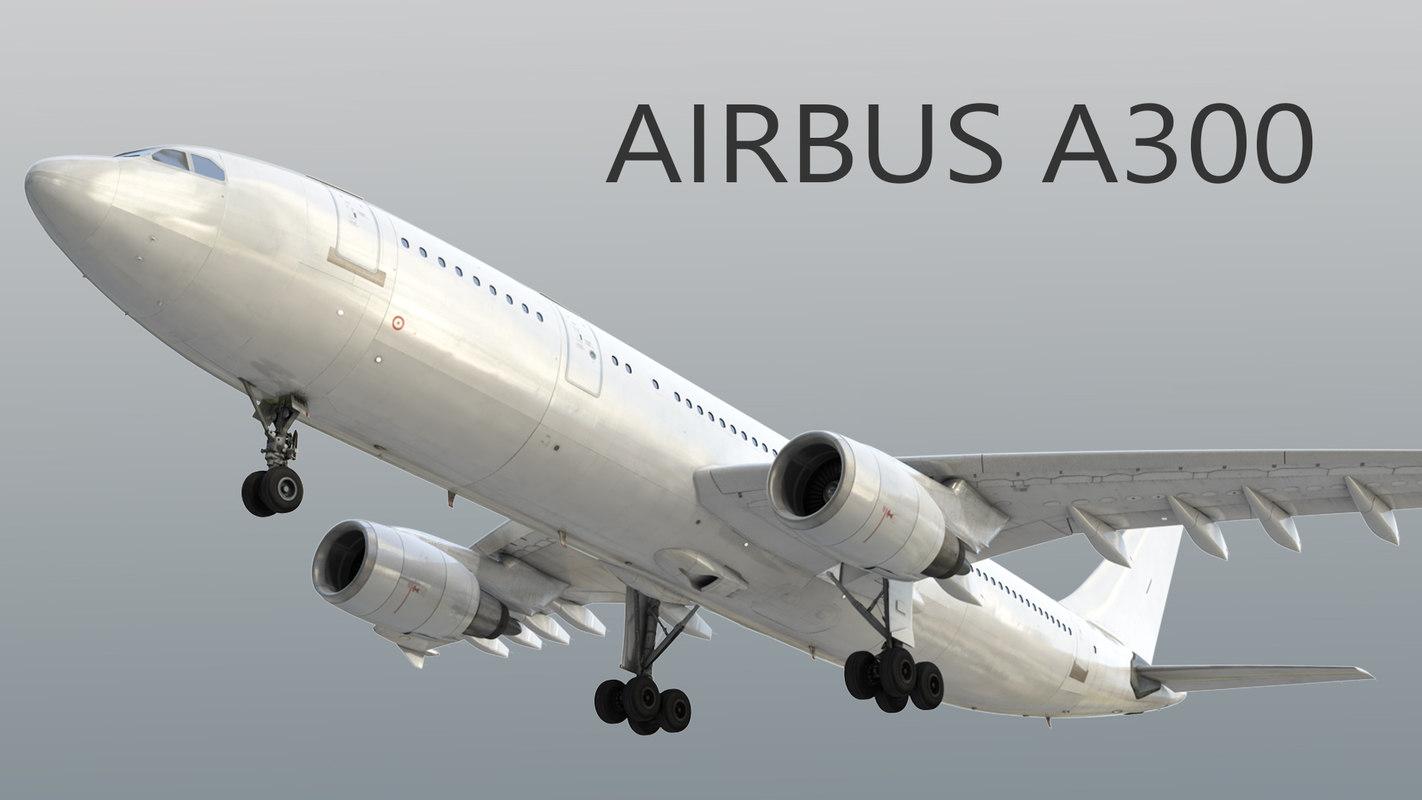 3D model airbus a300