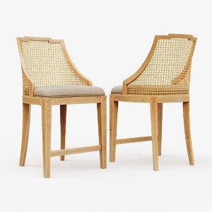 classic wooden chair 2 3D