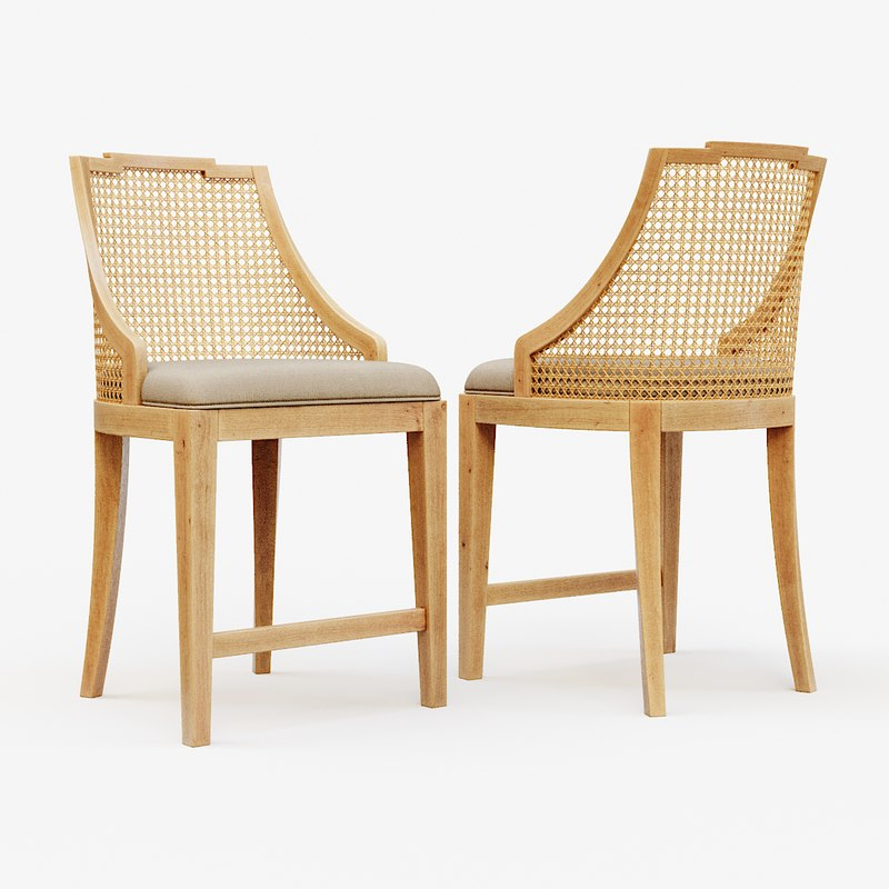 classic wooden chair 2 3D
