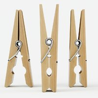 wooden clothes 4 clothespin 3D