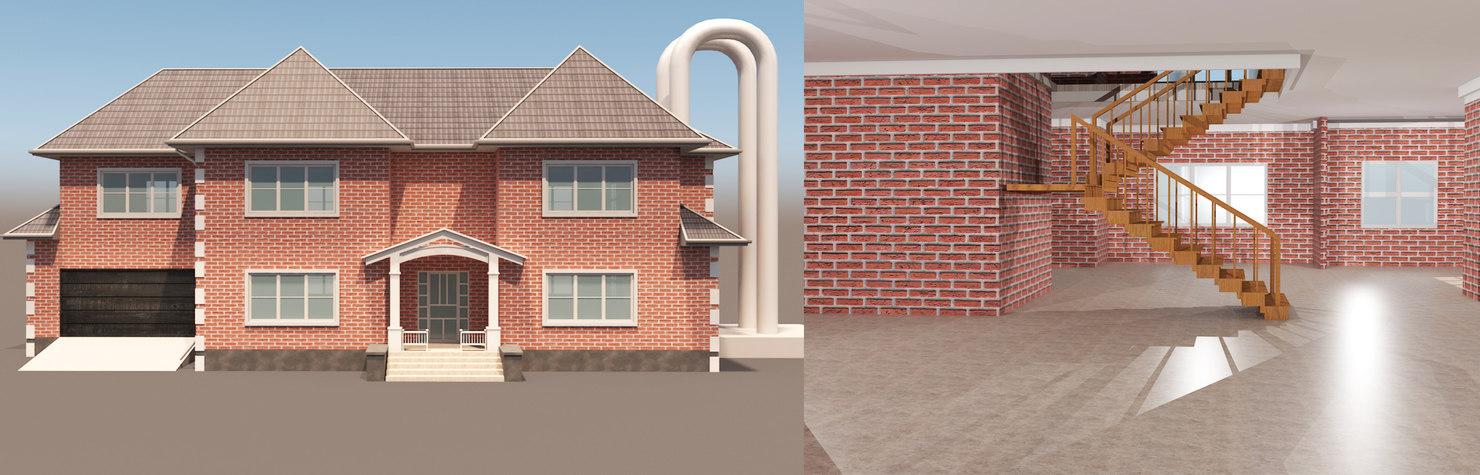 3D model realistic house