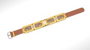 antique belt 3D model