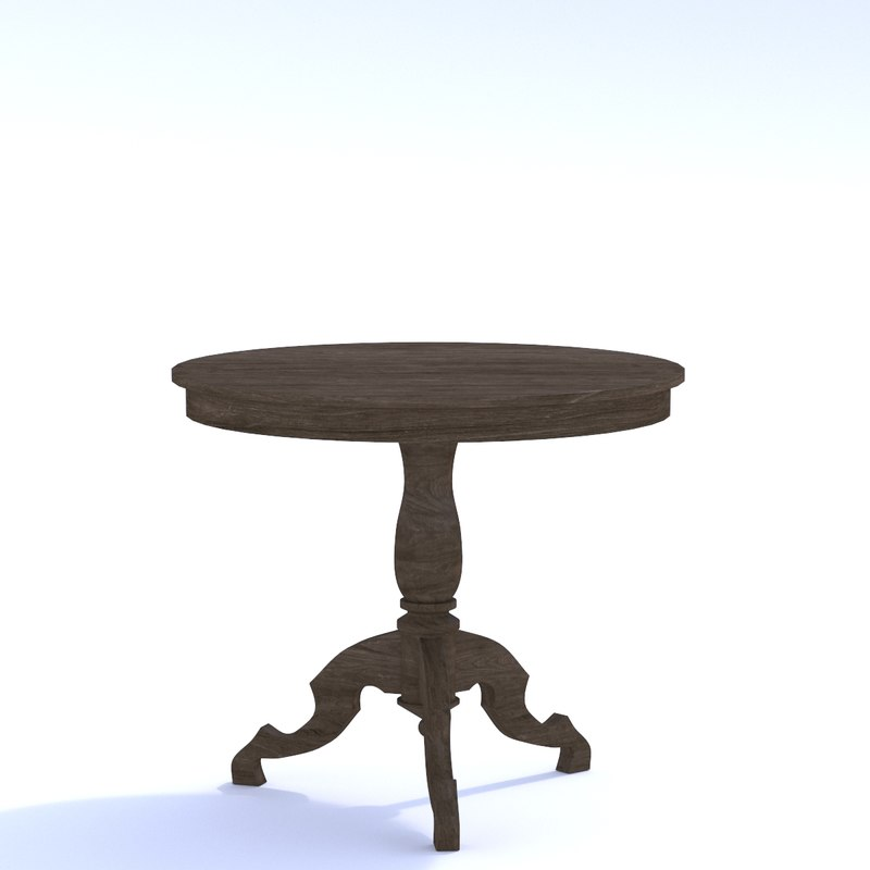 pedestal table furnishing 3D model