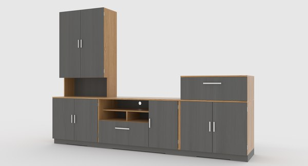 tv stand 68 3D model