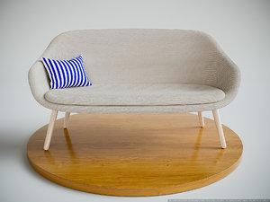 hay sofa comwell 3D model