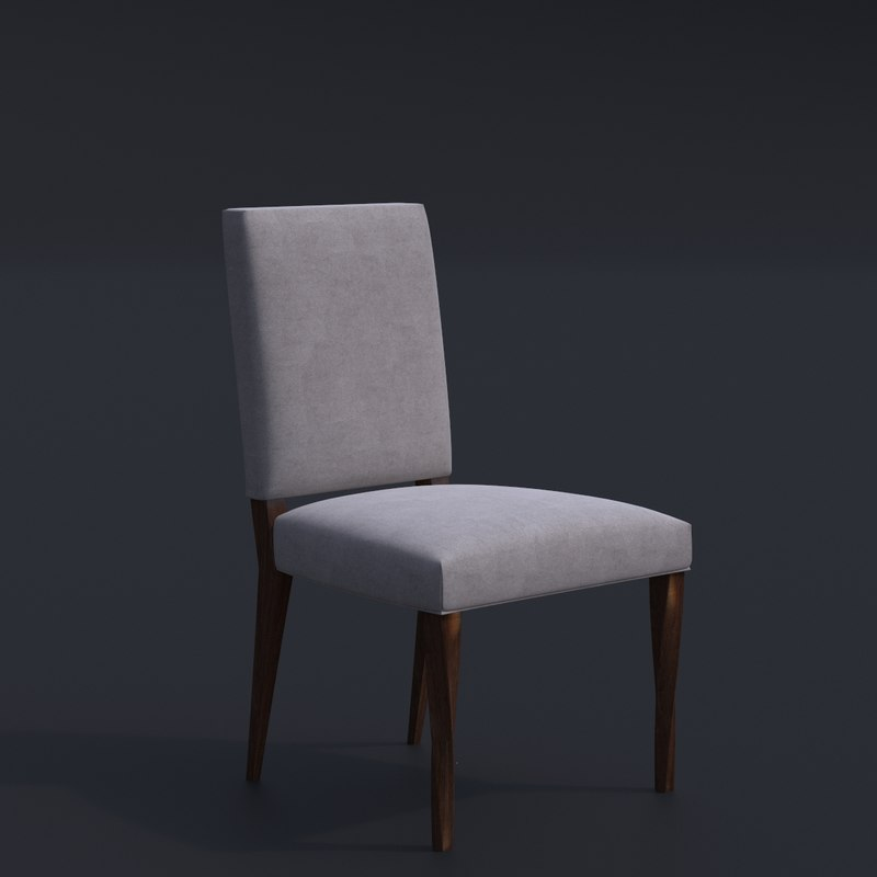 twisted leg dining chair 3D model