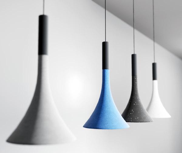 3D concrete light fixture model