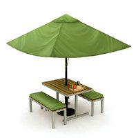 3D cafe furniture table chairs