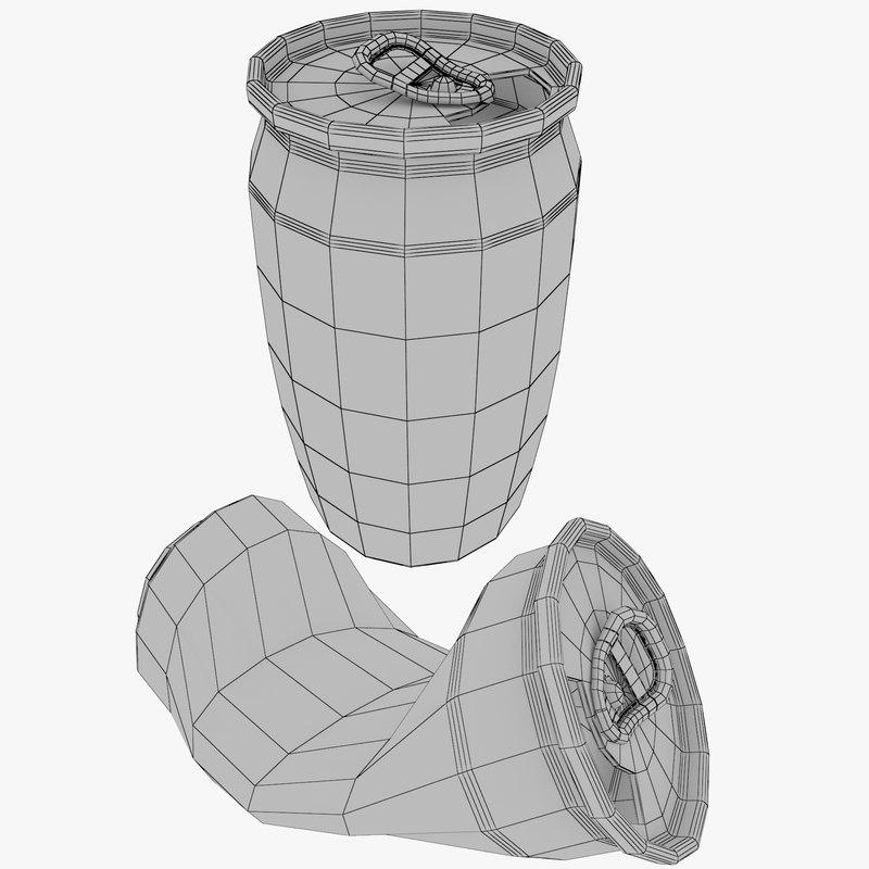 aluminum soda cans 3D model
