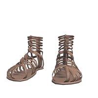 3D caligae sandals roman