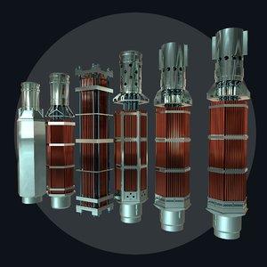 fuel assembly 3D model