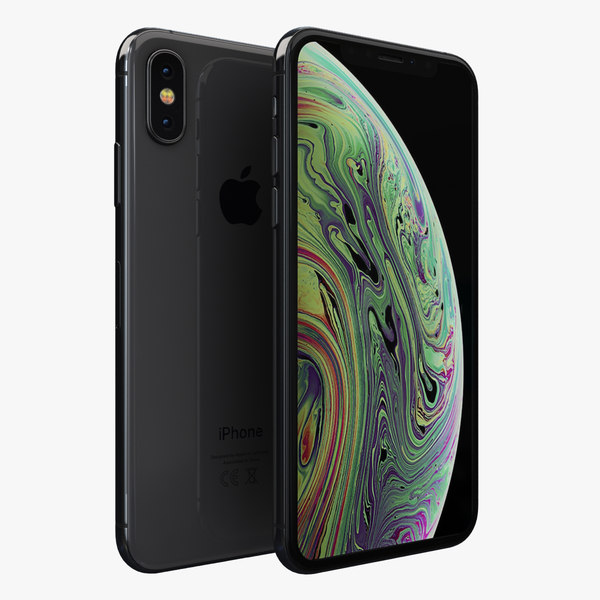 3D apple iphone xs space