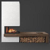 3D model 272 sl fireplace piazzetta