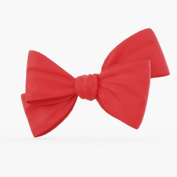 3D red bow