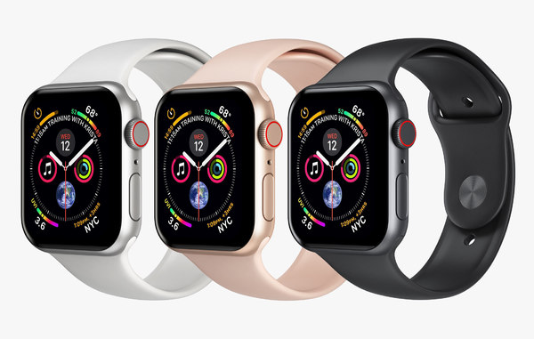 3D apple watch 4 series model