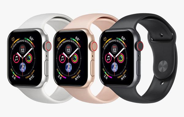 3D apple watch 4 series model