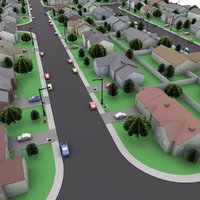 neighborhood blocks 3D