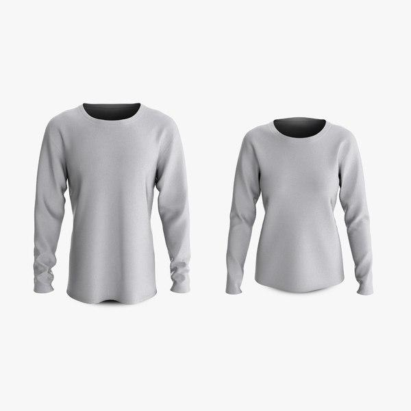3D cotton male female t-shirts model