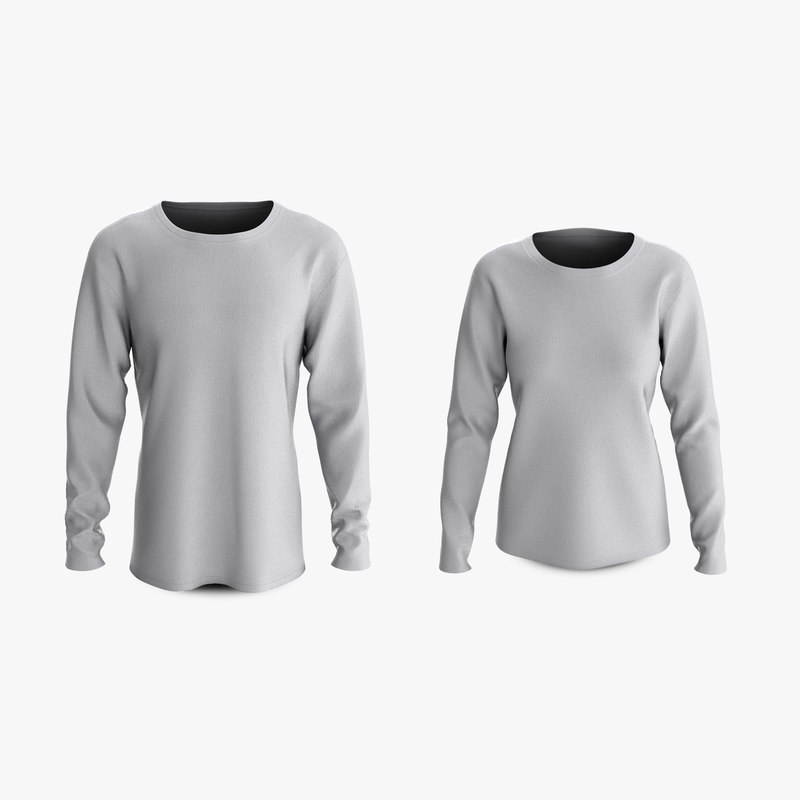 3D cotton male female t-shirts model