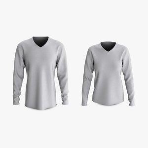 3D model cotton male female t-shirts
