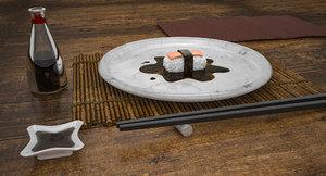 sushi dinner table 3D model