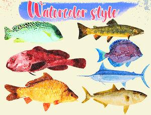 fish illustration 1 - 3D
