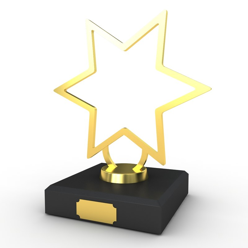 trophy award 3D model