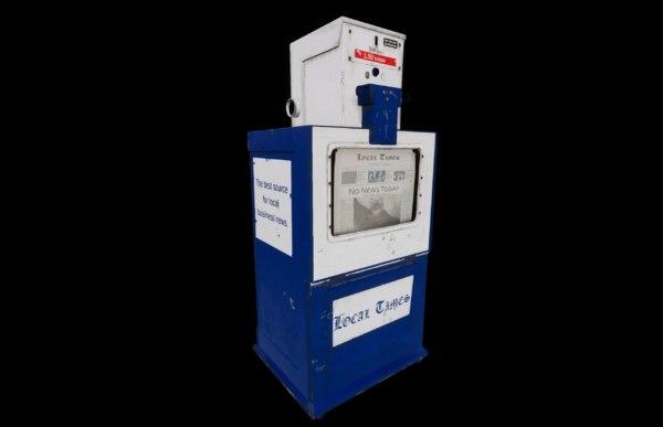 newspaper dispenser news 3D