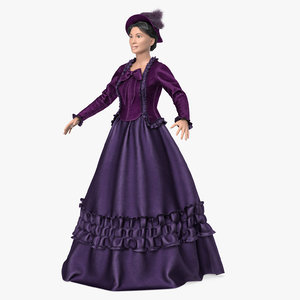 lady victorian age 3D model