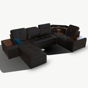 3D model sofa safe