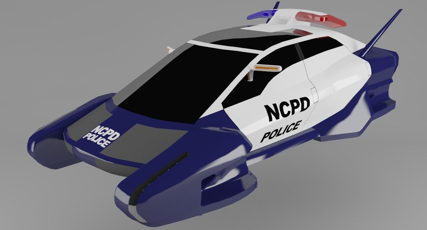 flying police car model