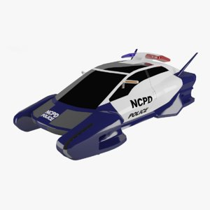 flying police car model