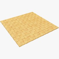 wicker mat 3D