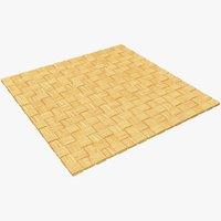 wicker mat 3D