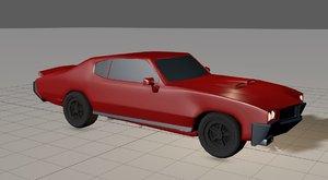 3D car musclecar model