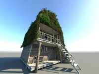 3D model double deck house