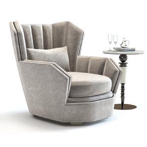 sofa chair hemingway armchair 3D model