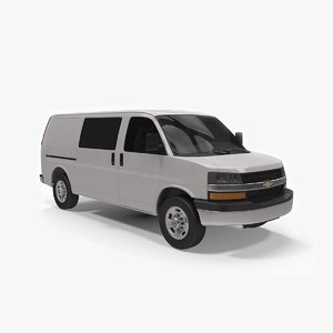 3D chevy express slide doors