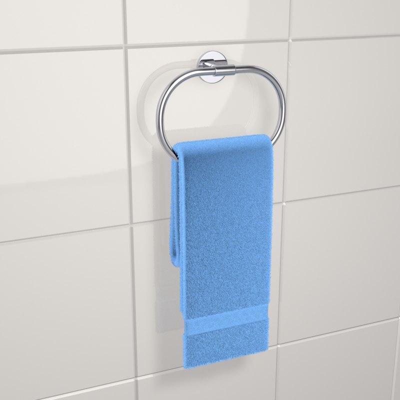 3D towel holder