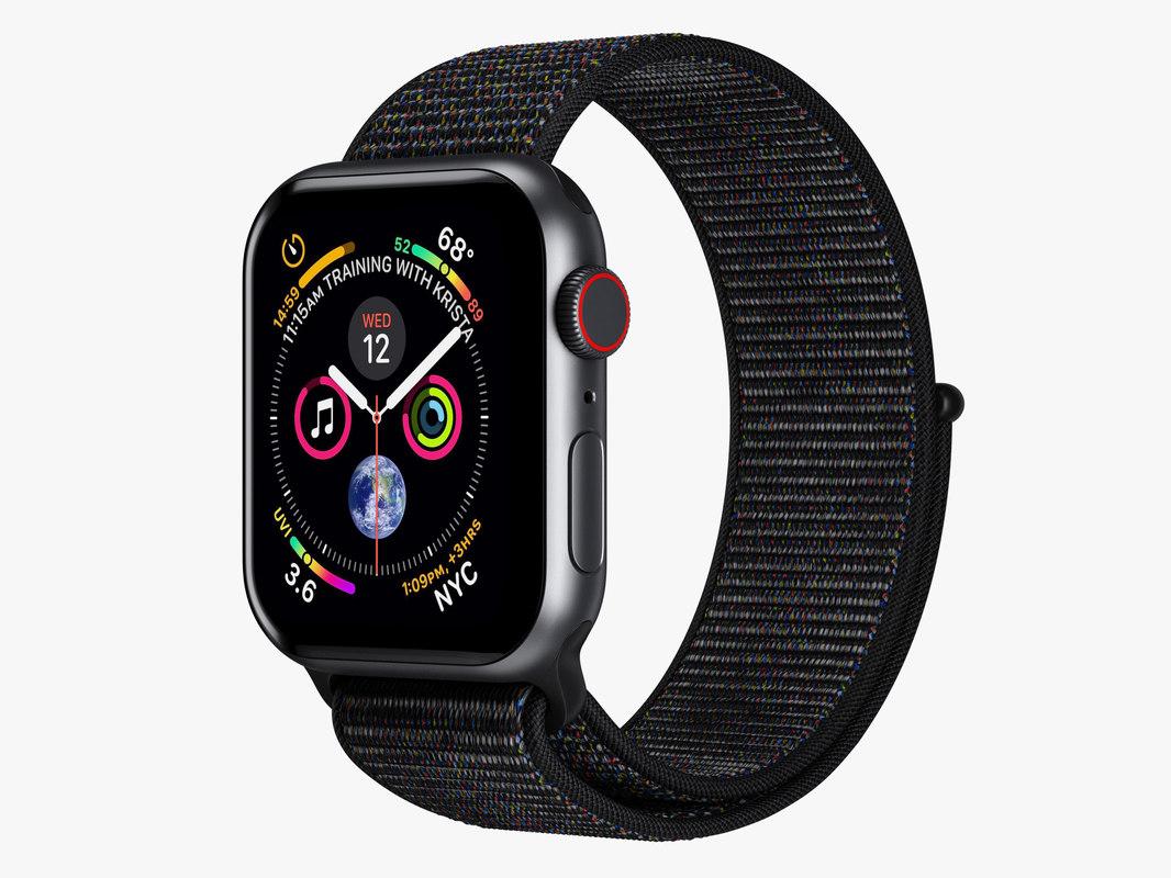 apple watch 4 series 3D model