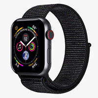 Apple Watch 4 Series Space Gray Aluminum Case with Black Sport Loop 5